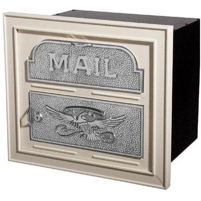 Column Insert Mailboxes - Almond with Satin Nickel Accents