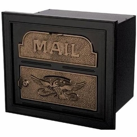 Column Insert Mailboxes - Black with Antique Bronze Accents