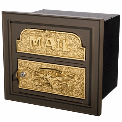 Column Insert Mailboxes - Bronze with Polished Brass Accents