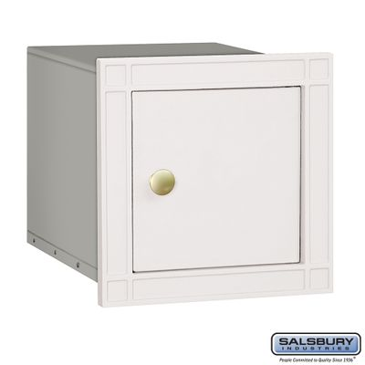 Salsbury 4140P-WHT Column Mounted Mailbox Without Slot In White