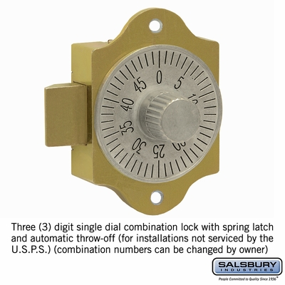 Salsbury 3486 Combination Lock - for 4C Pedestal Mailbox Door
