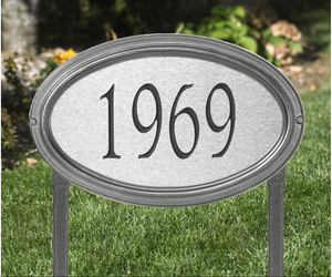 Concord Artisan Metal Standard Lawn Address Sign - One Line