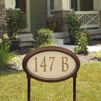 Concord Artisan Stone Standard Lawn Address Sign - One Line