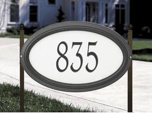 Concord Oval - Estate Reflective Lawn Address Sign - One Line