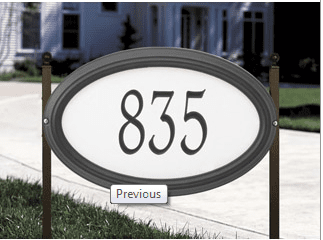 Concord Oval - Standard Reflective Lawn Address Sign - One Line