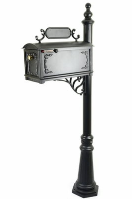 Curbside Mailbox with Ornamental Address Plaque