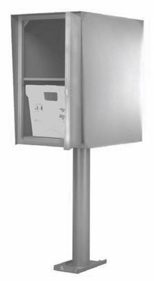 Custom Commercial Collection Box in Stainless - Double (Rear Access)