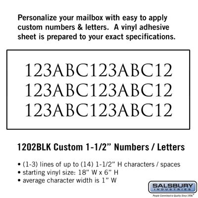 Salsbury 1202BLK Reflective Address Numbers