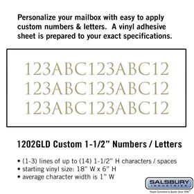 Salsbury 1202GLD Reflective Address Numbers