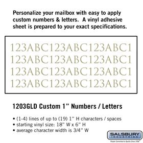 Salsbury 1203GLD Reflective Address Numbers