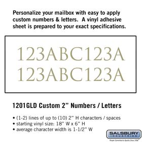 Salsbury 1201GLD Reflective Address Numbers