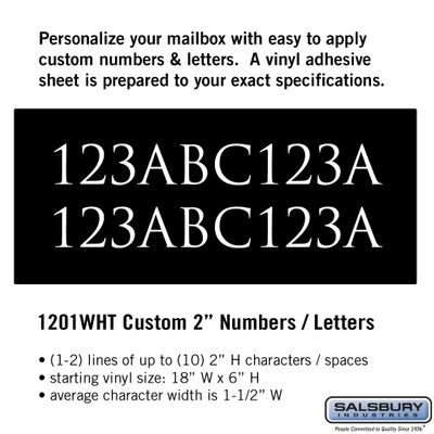 Salsbury 1201WHT Reflective Address Numbers