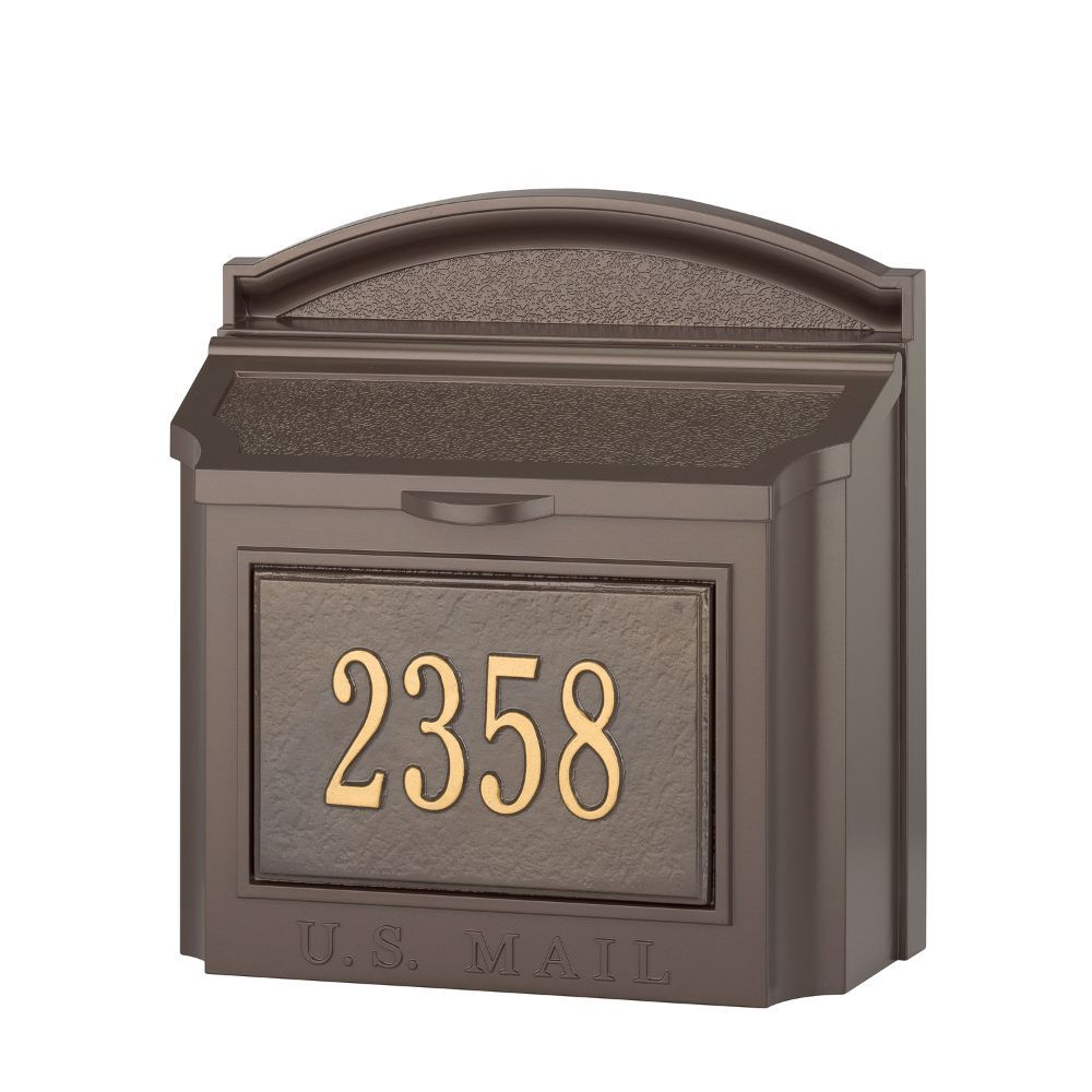 Whitehall Products Custom Wall Mount Mailbox With