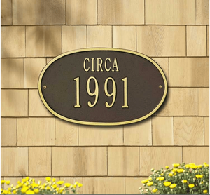 "Date Plaque - Standard Wall - ""Circa"" One Line"