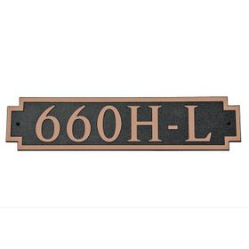 Large Horizontal Wall Mount Address Plaque Copper Black
