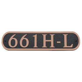 Dekorra Products 661 Large Round Horizontal Address Plaques