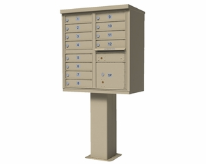 1565 Series USPS High Security CBU Commercial Mailbox - 12 Doors