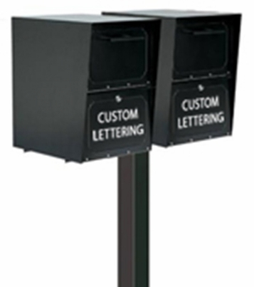 Double Locking Curbside Standard In-Ground Post System (Mailboxes Purchased Separately)