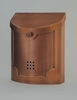 E4CP Wall Mounted Copper Plated Modern Mailbox