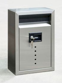 Ecco E9 Satin Stainless Steel Wall Mailbox