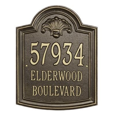 Elderwood - Estate Lawn Address Sign - Three Line