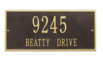 Standard Size Hartford Wall or Lawn Plaque - (1 or 2 Lines)