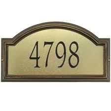 Estate Size Providence Artisan Metal Wall or Lawn Plaque - (1 Line)