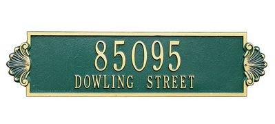Estate Size Shell Horizontal Wall or Lawn Plaque - (1 or 2 Lines)