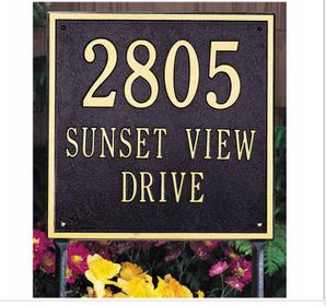 Estate Size SQUARE Wall or Lawn Plaque - (1, 2, or 3 lines)