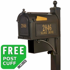 Whitehall Estate Streetside Mailbox Package in Bronze