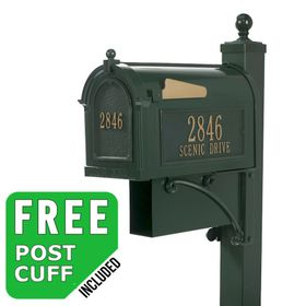 Whitehall Estate Streetside Mailbox Package in Green