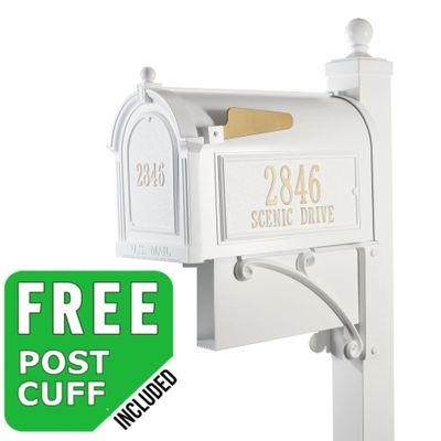 Whitehall Estate Streetside Mailbox Package in White
