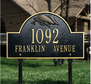 Flag Arch Marker - Standard Lawn Address Sign - Two Line