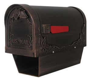Floral Curbside Mailbox with Paper Tube