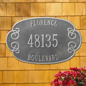 Florence Estate Three Line Wall Plaque