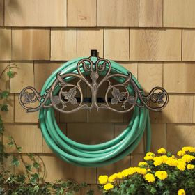 Whitehall Foliate Hose Holder - Oil Rub Bronze