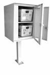 Front Access Double Commercial Collection Box in Stainless