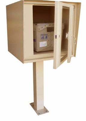 Front Access Single Commercial Collection Box in Aluminum