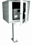 Front Access Single Commercial Collection Box in Stainless