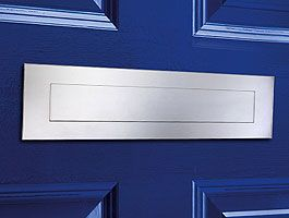"""Front and Rear Stainless Steel Mail Slot (large) 15.7"""" x 3.9"""" - Mirror Polished"""
