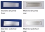"""Front and Rear Stainless Steel Mail Slot (small) 11.8"""" x 3"""" - Mirror Polished"""