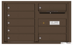 Rear Loading 4C Commercial Mailbox with 7 Tenant Doors