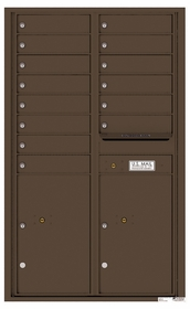 Rear Loading Commercial Mailbox - 14 Tenant Doors and 2 Parcel Lockers - Double Column
