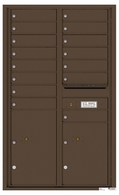 Rear Loading Commercial Mailbox - 15 Tenant Doors and 2 Parcel Lockers - Double Column