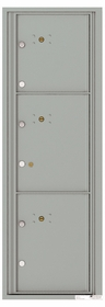 Front Loading Commercial Mailbox - 3 Parcel Lockers