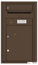 Rear Loading Commercial Mailbox with 1 Tenant Compartment and 1 Parcel Locker