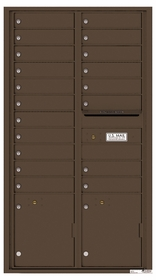 Rear Loading Commercial Mailbox with 19 Tenant Compartments and 2 Parcel Lockers - Versatile Double Column Mailbox