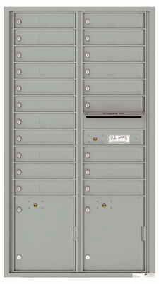 Front Loading Commercial Mailbox With 20 Tenant Compartments and 2 Parcel Lockers