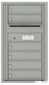 Front Loading Commercial Mailbox with 6 Tenant Compartments