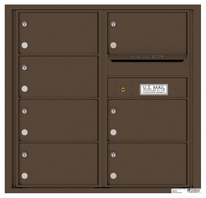 Rear Loading Commercial Mailbox with 7 Tenant Compartments